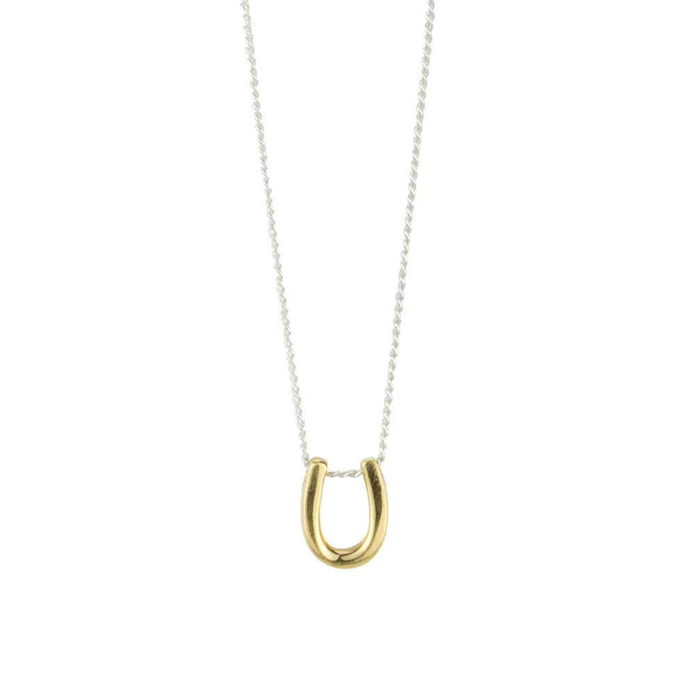 BARONI DESIGNS Necklace Cate Gold Horseshoe Silver Chain
