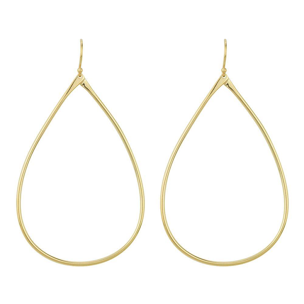 BARONI DESIGNS Earring Large Silken Tear Gold