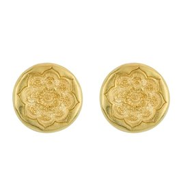 BARONI DESIGNS EARRING ORGANIC MANDALA POST EARWIRE GOLD