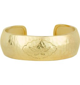 BARONI DESIGNS Bracelet Etched Lotus Cuff Gold