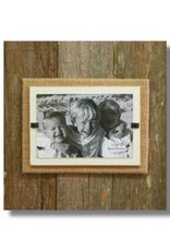 BEACH FRAMES Frame Reclaimed Wood Large Single Cream and Burlap Background