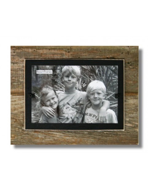 BEACH FRAMES Reclaimed Wood Frame   7 x 9 Black
