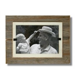 BEACH FRAMES Frame Reclaimed  Wood Mini Frame and Cream Background
