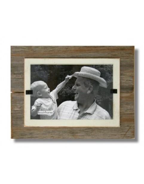 BEACH FRAMES Frame Reclaimed  Wood Mini Frame and Cream Background