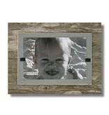 BEACH FRAMES Frame Reclaimed Wood Mini Frame in Urban Mist Gray