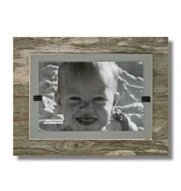 BEACH FRAMES Frame Reclaimed Wood Mini Frame in Urban Mist Gray