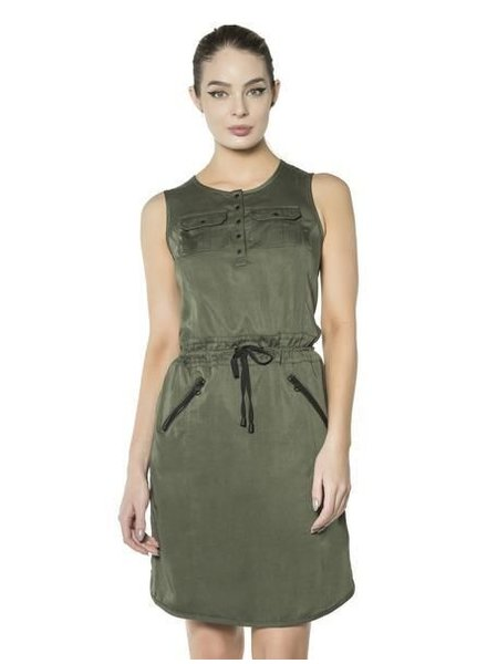 Blanc Noir Blanc Noir Aviator Dress Olive