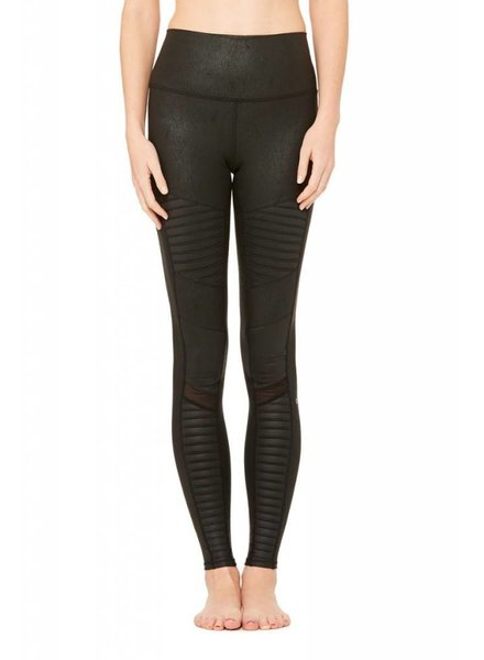 Alo Yoga Alo Moto Legging High Waisted Black Leather