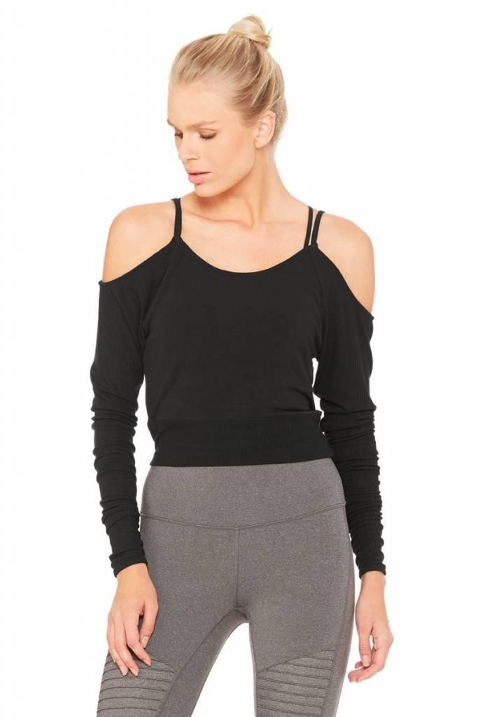 Alo Yoga Alo Evolve Long Sleeve Top Black