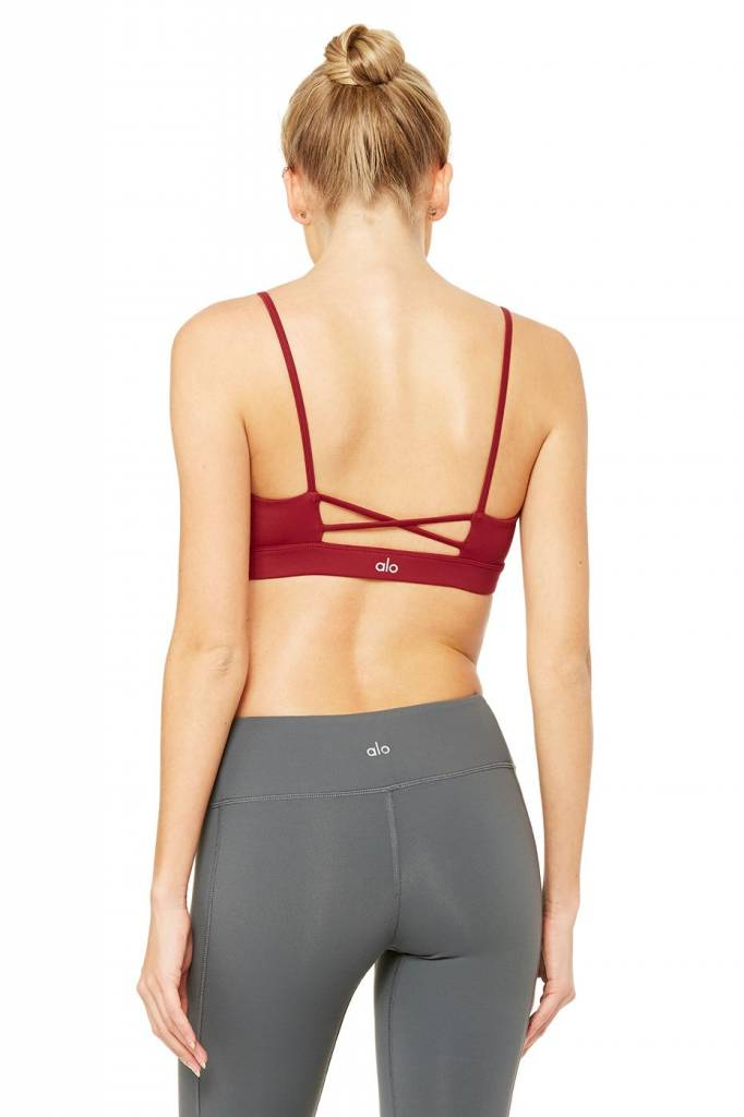 Alo Yoga Alo Interlace Bra Red Velvet