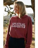 Spiritual Gangster SG Varsity Crop Hoodie Dusty Cedar