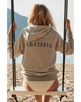 Spiritual Gangster Grateful Gym Hoodie Grey
