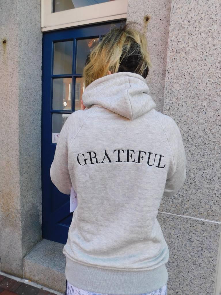 Spiritual Gangster Grateful Gym Hoodie Grey