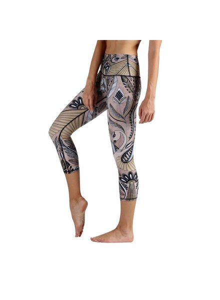 Yoga Democracy Desert Goddess Crop Leggings