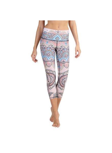 Yoga Democracy Mystic Elephant Crop Leggings