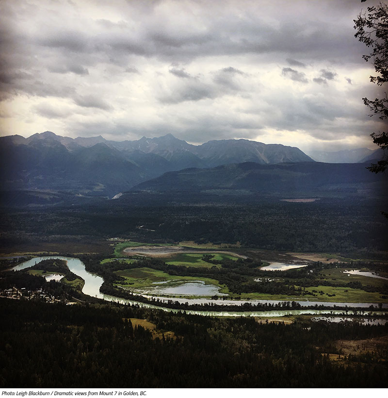 Dramatic views from Mount 7 in Golden, BC. Image by Leigh Blackburn from the Sovereign Cycle blog post: Is Now the Golden Age of Mountain Biking?
