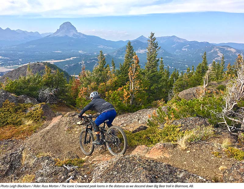Russ Morton keeps his eye on the trail rather than the view on Big Bear. Image by Leigh Blackburn from the Sovereign Cycle blog post: Is Now the Golden Age of Mountain Biking?
