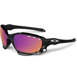 Oakley Oakley Racing Jacket Polished Blk Prizm Trail and Clear
