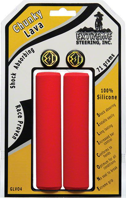 ESI Silcone Grip Red Chunky 32mm