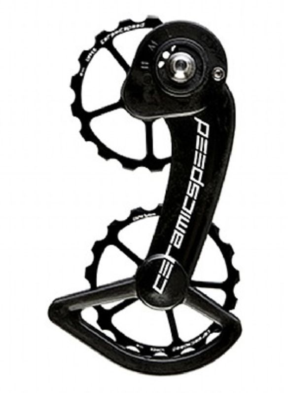 CeramicSpeed CeramicSpeed Oversized Pulley Wheel System Shimano 10- and 11-Speed, Black Alloy Pulleys and Black Carbon Cage