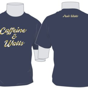 Caffeine & Watts Men's Blue & Gold Tee
