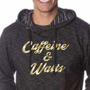 Caffeine & Watts Hoodie - Gold