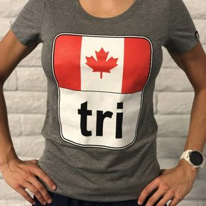 Canada Flag Tri Tee Ladies'