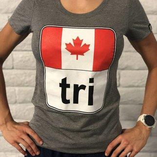Canada Flag Tri Tee Ladies'