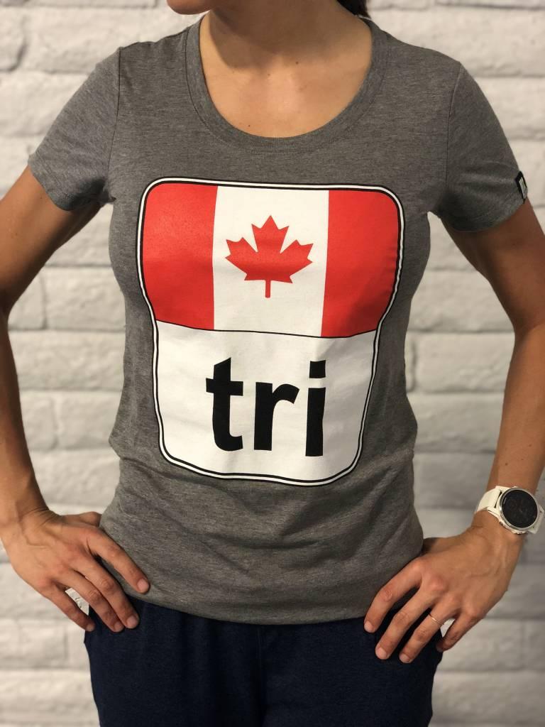 Moxie Store Brand Canada Flag Tri Tee Ladies'