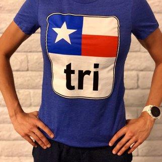 Texas Flag Tri Tee Ladies'