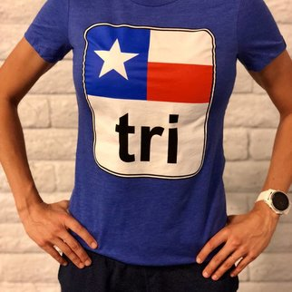 Moxie Store Brand Texas Flag Tri Tee Ladies'