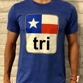 Texas Flag Tri Tee Mens'