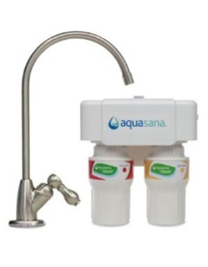 Water Filters Aquasana Under Counter Water Filter - brushed Nickel AQ-5200.55