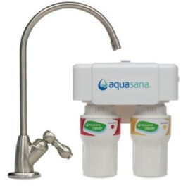 Water Filters Aquasana Under Counter Water Filter - brushed Nickel AQ-5200.55