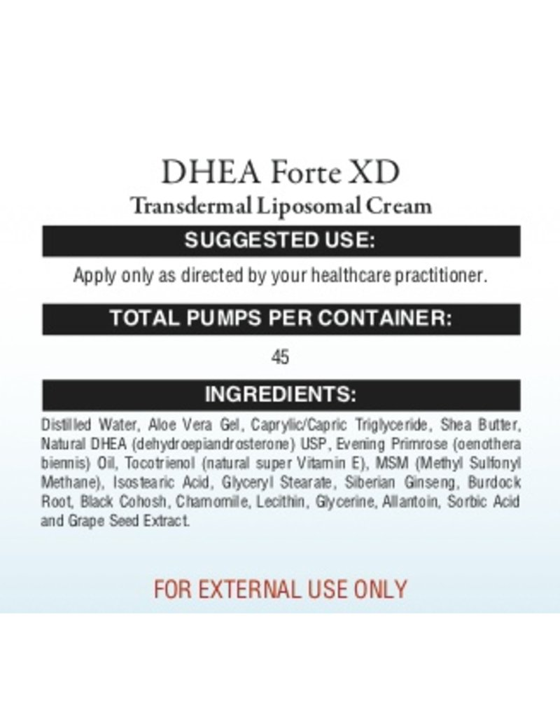 HPA DHEA FORTE XD CREAM 2OZ