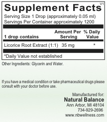 HPA LICORICE ROOT LIQ 2OZ (ORTHO MOLECULAR)