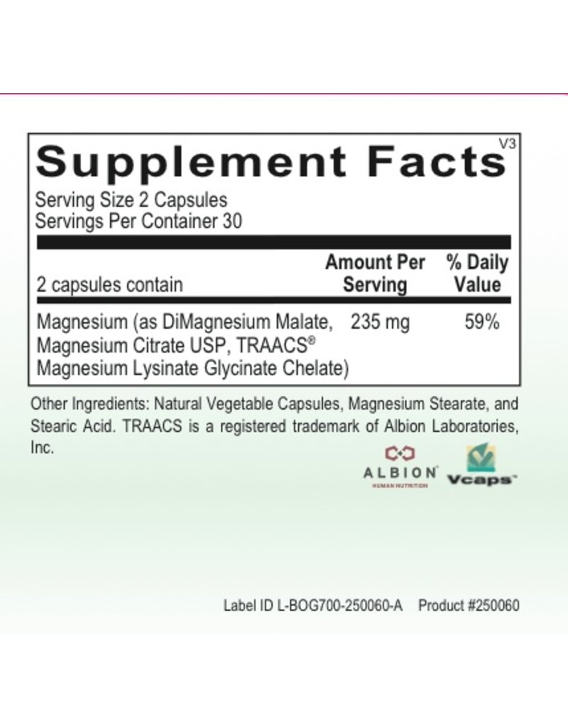 Basic *MAG CHELATE PLUS 60CT (ORTHO MOLECULAR)