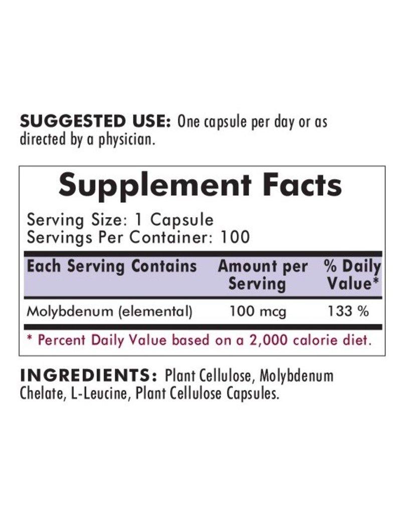 Biomed MOLYBDENUM 100 CAPS (KIRKMAN)