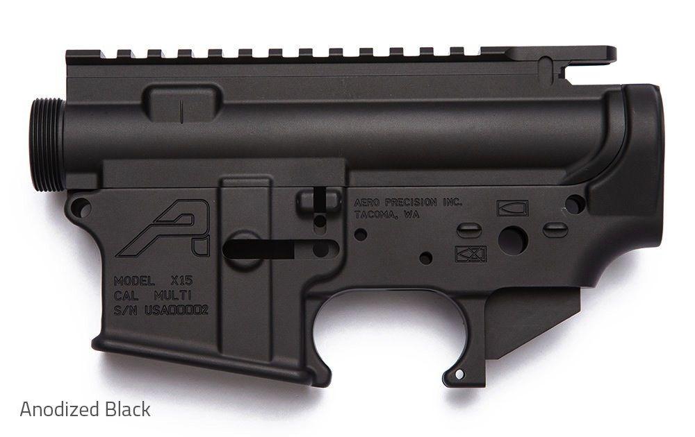 Aero AR15 Receiver Set, Aero Precision, Anodized Black