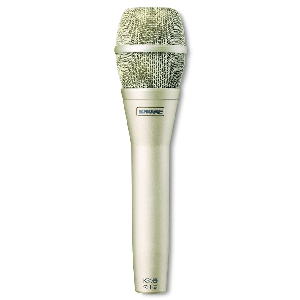 Shure Shure KSM9/SL Dual-Pattern Vocal Microphone - Champagne