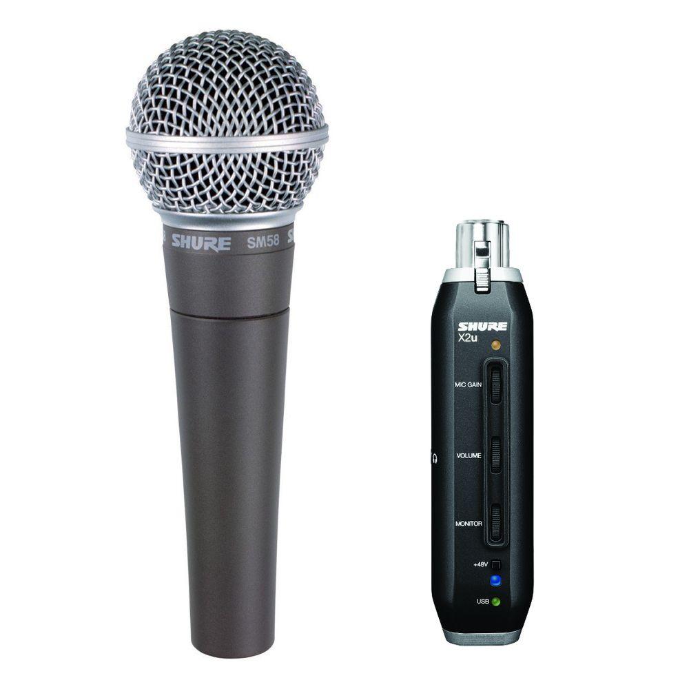 Shure Shure SM58+X2u USB Digital Microphone Bundle