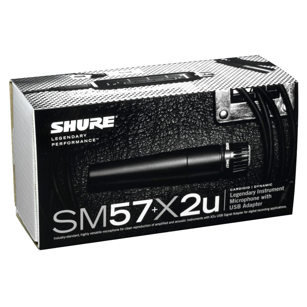 Shure Shure SM57+X2u USB Digital Microphone Bundle