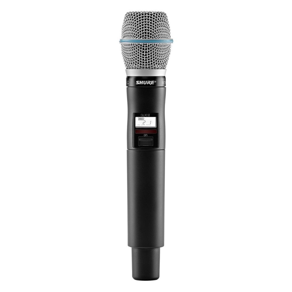 Shure Shure QLXD2/BETA87C Handheld Wireless Microphone Transmitter