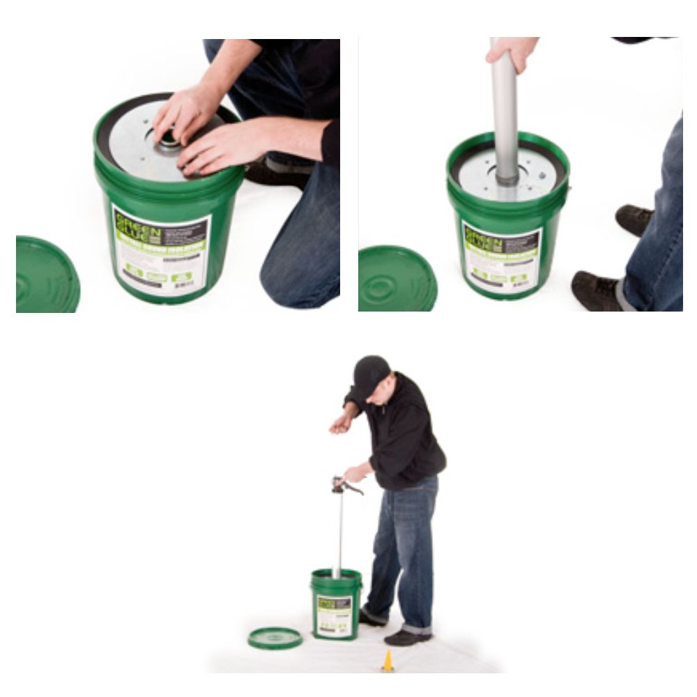 Green Glue Pail Follower Plate