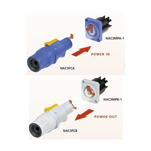 Neutrik Neutrik NAC3FCA powerCON Cable Connector, Blue