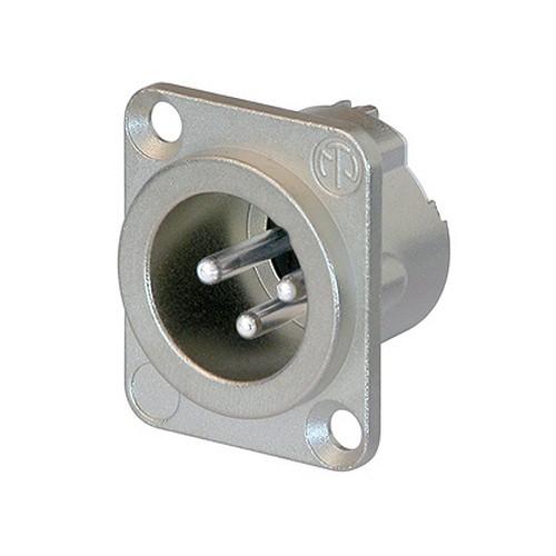 Neutrik Neutrik NC3MD-LX 3-pin Male XLR Receptacle, Nickel w/ Silver Contacts