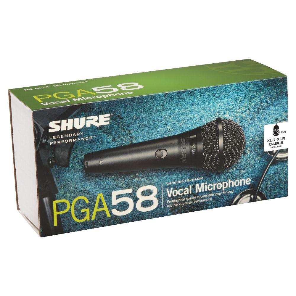 Shure Shure PGA58-XLR Cardioid Dynamic Vocal Microphone