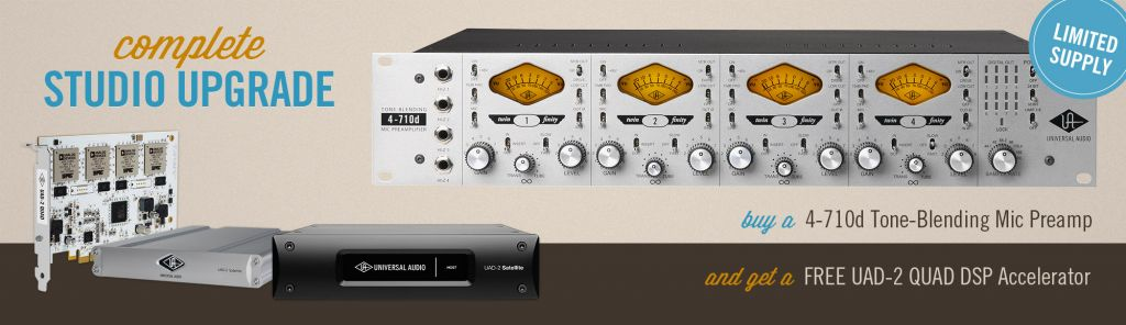 UA Complete Studio Upgrade Featuring 4710d Preamp