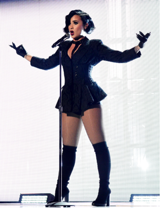 Demi at AMAs with Shure Wireless