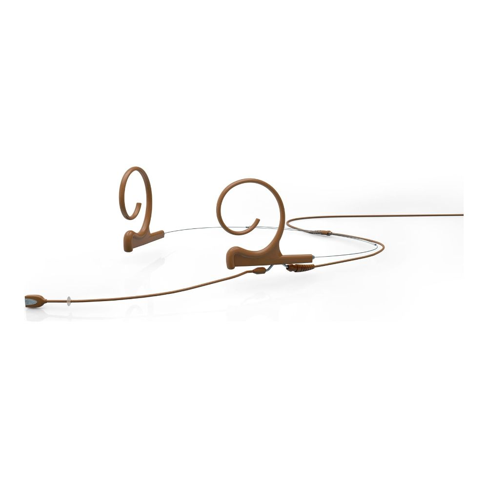 DPA Directional Headset, Brown, Medium 100 mm, Dual Ear, Microdot (Adaptor Required)
